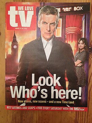 WE LOVE TV MAGAZINE AUGUST 2014 DOCTOR WHO PETER CAPALDI PHILIP GLENISTER