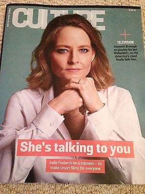 JODIE FOSTER - KENNETH BRANAGH - PAUL McCARTNEY Culture UK magazine 15 May 2016