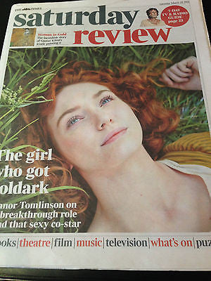 ELEANOR TOMLINSON interview POLDARK UK 1 DAY ISSUE DAMON ALBARN BLUR STEVE JOBS