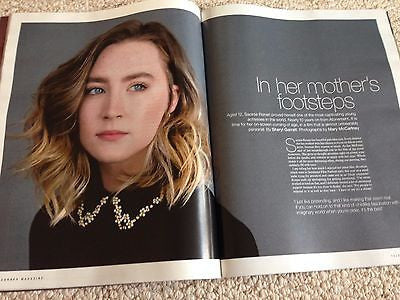 (UK) TELEGRAPH MAGAZINE OCT 2015 SAOIRSE RONAN ANTHONY HOPKINS CHRISSIE HYNDE