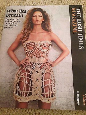 LILY ALDRIDGE - VICTORIA'S SECRETS MODEL Irish Times Magazine June 2016