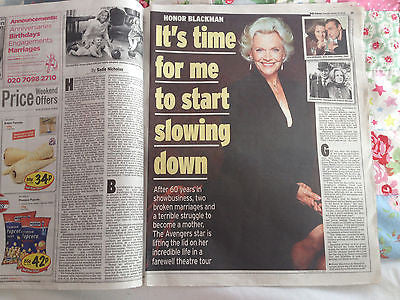 JAMES BOND GIRL Honor Blackman Pussy Galore UK Photo Interview 2014
