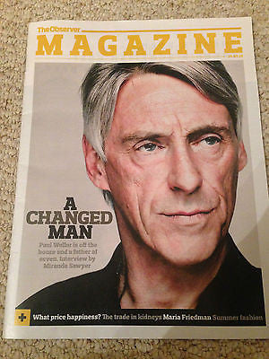 UK OBSERVER MAGAZINE - PAUL WELLER - MARIA FRIEDMAN - MAY 2015