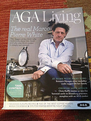 MARCO PIERRE WHITE PHOTO COVER AGA LIVING MAGAZINE 2013 DAISY LOWE