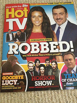 Hot TV Magazine 2014 Chris Gascoyne Michelle Keegan Philip Glenister Eva Green