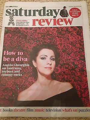 (UK) TIMES REVIEW MARCH 26 2016 ANGELA GHEORGHIU PHOTO COVER INTERVIEW
