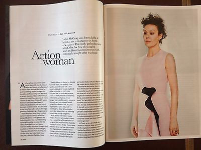 HELEN McCORY interview ALAN RICKMAN DAMIAN LEWIS UK 1 DAY ISSUE APRIL 2015