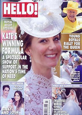 HELLO! magazine 3 July 2017 Kate Middleton at Ascot Swarovsk Victoria Wedding
