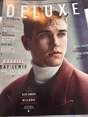 (UK) DELUXE MAGAZINE OCT 2015 - GABRIEL DAY LEWIS DANIEL PHOTO COVER INTERVIEW