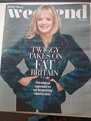 TWIGGY WEEKEND PHOTO COVER 2014 MAGAZINE JAMES NESBITT PHIL COLLINS JEAN MARSH