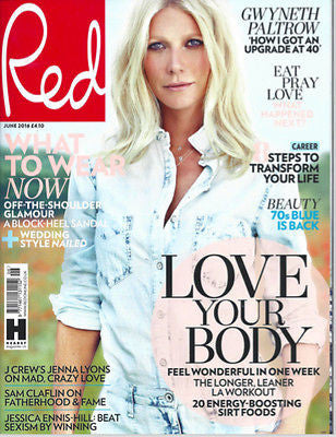 (UK) RED MAGAZINE JUNE 2016 GWYNETH PALTROW PHOTO COVER INTERVIEW SAM CLAFLIN