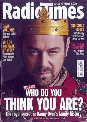 RADIO TIMES magazine November 2016 Danny Dyer Eastenders Photo Cover Interview