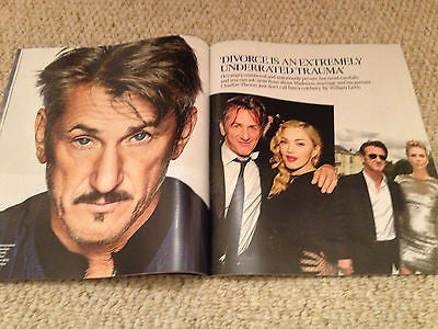SEAN PENN interview MADONNA UK 1 DAY ISSUE 2015 KIRSTIE ALLSOPP KIM KARDASHIAN