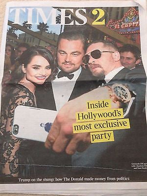 Times 2 Supplement March 2016 Leonardo DiCaprio Tom Hardy Charlotte Riley