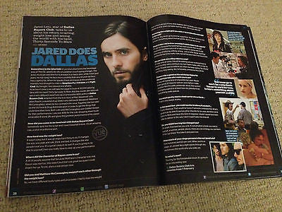 UK VUE Magazine 2014 Jared Leto interv/w Grace Kelly Nick Frost Colin Farrell