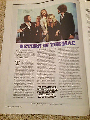CHRISTINE MCVIE interv/w FLEETWOOD MAC UK ISSUE 2015 FRANKIE BOYLE CHARLIE XCX