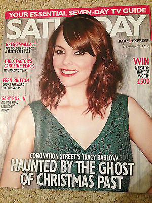 SATURDAY MAGAZINE NOVEMBER 2015 KATE FORD NICHOLAS DONNELLY FERN BRITTON