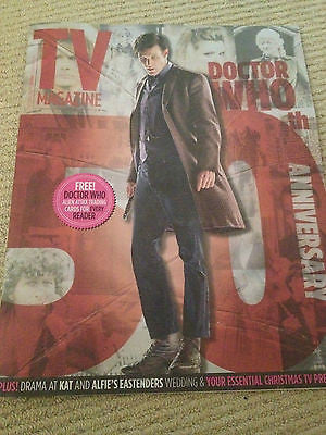 TV MAGAZINE DOCTOR WHO 50TH ANNIVERSARY 23 NOV 2013 - DAVID TENNANT CHARLIE COX