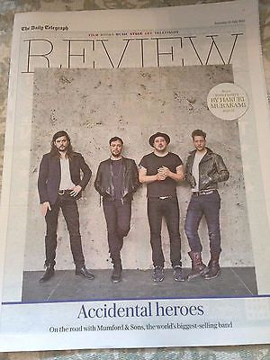 TELEGRAPH REVIEW JULY 25 2015 MUMFORD & SONS PHOTO INTERVIEW MICHELLE FAIRLEY