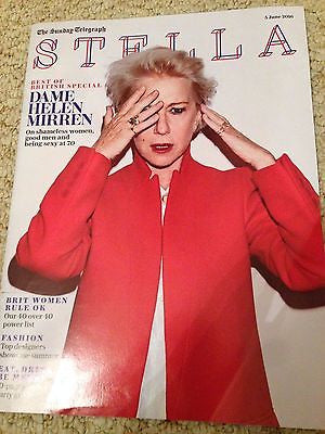 HELEN MIRREN - AT 70 Photo Cover Interview UK Stella magazine June 2016