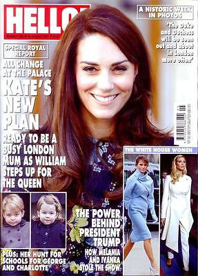 Hello! magazine - January 2017 Kate Middleton Ivanka Melania Trump Robson Green
