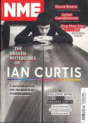 NME MAGAZINE 11.10.2014 IAN CURTIS JOY DIVISION UNSEEN NOTEBOOKS DAVID BOWIE