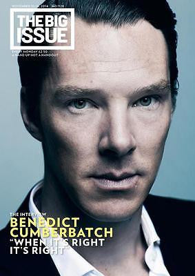 BENEDICT CUMBERBATCH PHOTO COVER BIG ISSUE MAGAZINE NOVEMBER 10 2014