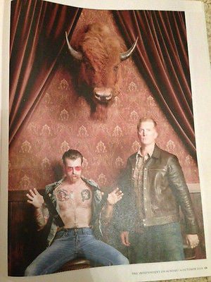 NEW REVIEW MAGAZINE OCTOBER 2015 EAGLES OF DEATH METAL JESSE HUGHES JOSH HOMME