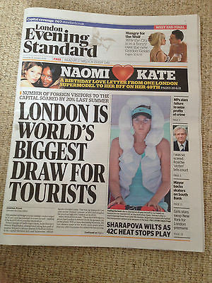 London Evening Standard - 16 January 2014 - Naomi Campbell & Kate Moss Sharapova