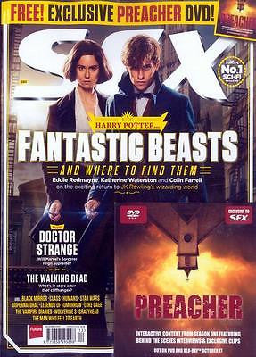 SFX MAGAZINE 12/2016 HARRY POTTER FANTASTIC BEASTS EDDIE REDMAYNE + PREACHER DVD