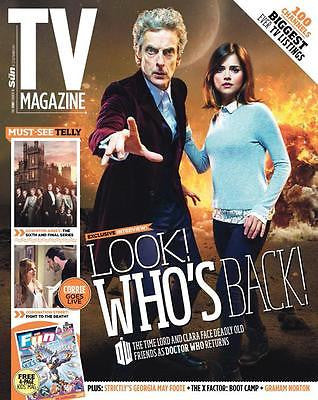 (UK) TV MAGAZINE SEPT 2015 PETER CAPALDI JENNA COLEMAN DOCTOR WHO DOWNTON ABBEY