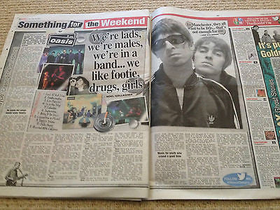 Example Cover Clippings The SUN UK Promo interview Noel Gallagher Liam Oasis