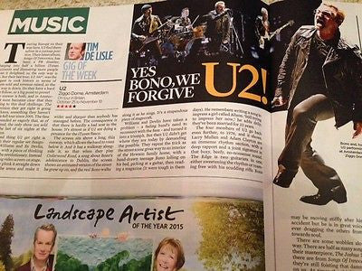 (UK) EVENT MAGAZINE OCTOBER 2015 U2 BONO LIVE PHOTOS MARK RYLANCE PETER O'TOOLE