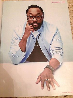 (UK) SUNDAY TIMES MAGAZINE NOVEMBER 2015 WILL.I.AM PHOTO COVER INTERVIEW