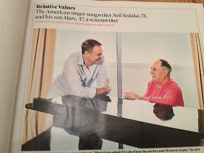 NEIL SEDAKA & MARC UK SUNDAY TIMES OCTOBER 2014 ONE DAY ONLY MAGAZINE