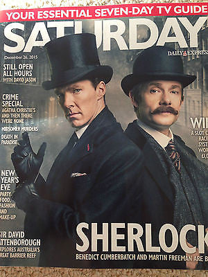 Sherlock BENEDICT CUMBERBATCH martin freeman PHOTO COVER SATURDAY MAGAZINE 2015