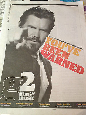JOSH BROLIN PHOTO COVER G2 2014 - Kristen Bell Christoph Waltz KYLIE MINOGUE