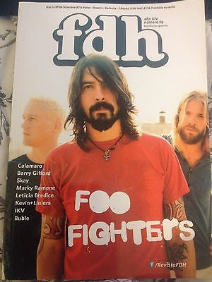 FDH MAGAZINE DECEMBER 2014 DAVE GROHL THE FOO FIGHTERS PHOTO COVER MICHAEL BUBLE