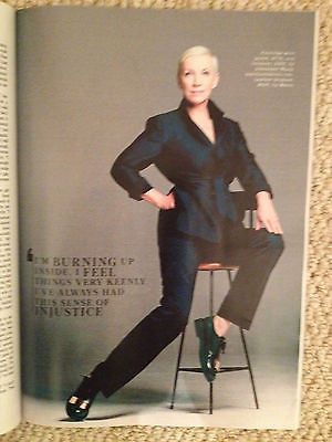 UK Annie Lennox Promo Style Magazine Cover Eurythmics October 2014