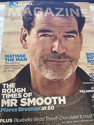 SAGA magazine April 2014 Pierce Brosnan at 60 UK Cover Issue Abba Fern Britton