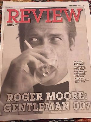 James Bond - Sir Roger Moore 28 May 2017 Tribute Photo Cover Uk Express Review