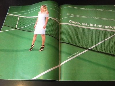 (UK) SUNDAY TIMES MAG MAY 2015 CAROLINE WOZNIACKI PHOTO INTERVIEW DAVID GUETTA