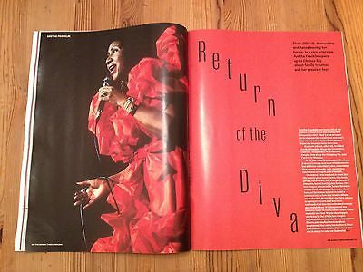 ARETHA FRANKLIN Photo interview SUNDAY TIMES MAGAZINE NOV 2014 ALAN CUMMING