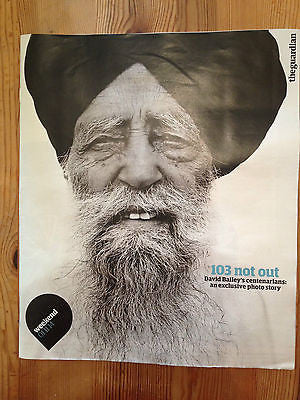 DAVID BAILEY UK GUARDIAN WEEKEND PHOTO COVER NOV 2014 ONE DAY ONLY MAGAZINE