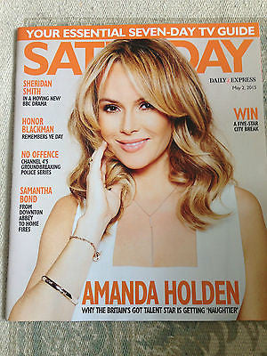 UK SATURDAY MAGAZINE 2015 - AMANDA HOLDEN JASPER CARROTT ED BYRNE HONOR BLACKMAN