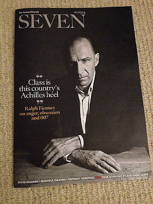 UK Ralph Fiennes James Bond SEVEN Magazine Clippings Interview Jemima Rooper