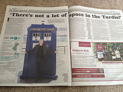 Doctor Who PETER CAPALDI PHOTO COVER Interview 2014 Jenna Louise Coleman