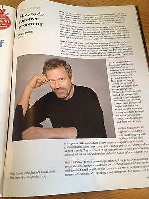 HUGH LAURIE PHOTO INTERVIEW UK MAGAZINE NOVEMBER 2013 MELINDA GATES PEGGY SARNO