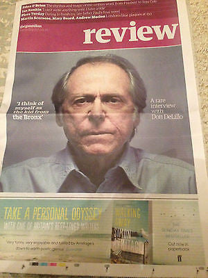 UK Guardian Review May 2016 A rare interview with Don DeLillo