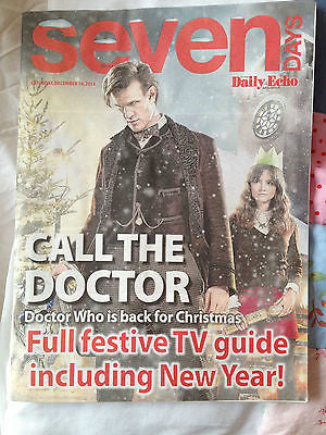 Seven Days Magazine December 2013 - Matt Smith Jenna Louise Coleman Doctor Who